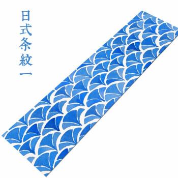家工场 桌旗中式简约茶几桌布桌旗新中式禅意中国风棉麻茶旗家居复古长条桌布餐垫茶席 日式条纹一 30*150cm