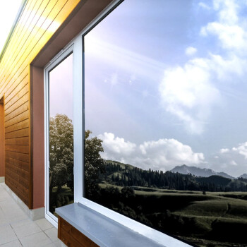 冰阳 窗户隔热贴膜 阳台玻璃单向透视防晒遮阳膜 双面银 0.9x2米