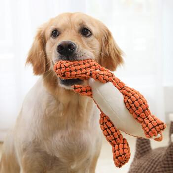疯狂小狗 狗狗玩具耐咬磨牙发声毛绒狗玩具法斗泰迪柯基幼犬金毛大型犬宠物玩具 疯狂的小狗