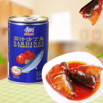 古龙 速食罐头 下饭菜 茄汁沙丁鱼425g