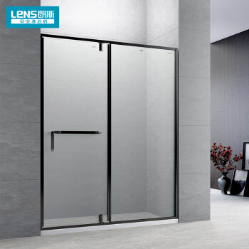 朗斯(LENS)定制淋浴房一字型钢化玻璃卫生间干湿分离隔断平开门 致尚p21 镜光 10mm超白玻 非标定制(元/平米)/不含石基