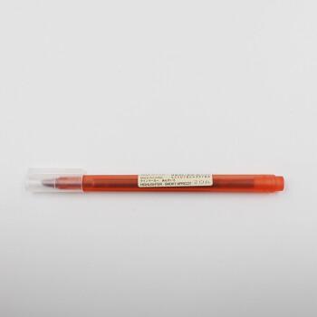 日本无印良品荧光笔淡色系列荧光笔标记笔小清新柔和色学生用 朱红色(杏黄)