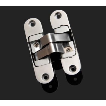 3D可调十字铰链隐藏式折叠门隐形门暗装三维暗藏铰链背景墙合页 110*30右开