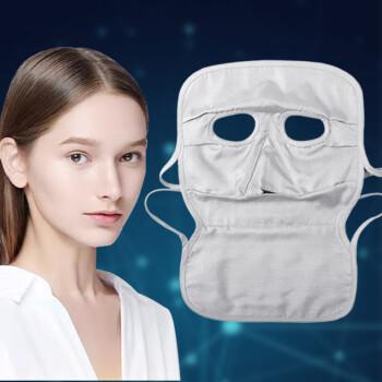 绿菲尔防辐射面罩电脑手机防辐射脸罩护肤上网防辐射男女银纤维面具 长款银纤维防辐射面罩 均码