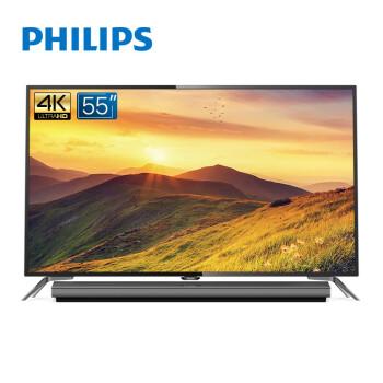 双11预售:PHILIPS 55PUF6481/T3 55英寸 4K液晶电视 2449元包邮