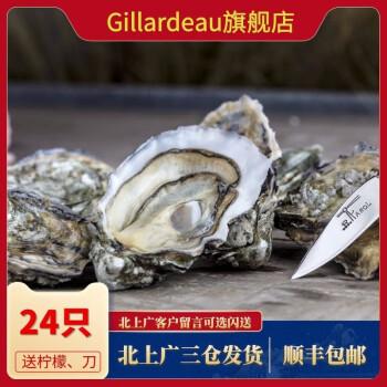 京东商城:Gillardeau吉娜朵 生蚝法国生蚝鲜活吉拉多生蚝24只1128元(需用券)
