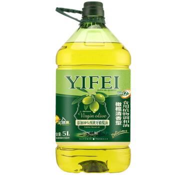 逸飞 食用油 添加10%橄榄油食用植物调和油5L 非转基因物理压榨