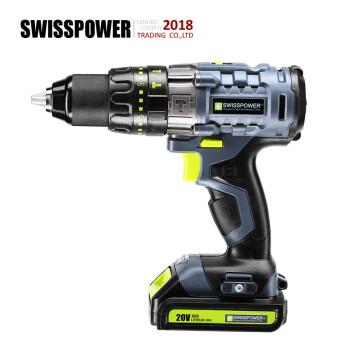 SWISSPOWER 瑞士动能 BL-1805H 无刷双速三合一电钻 20V