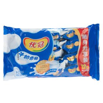 京东商城:优冠 牛奶香脆饼干 随身独立小包装零食 300g*15件59.25元(需用券、折合3.95元/件)