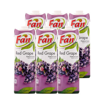 神价12斤纯葡萄汁!1Lx6瓶 塞浦路斯进口 Fun纯果芬 果汁 葡萄汁 49.9元再送2瓶橙汁 可叠加99-50满减 买手党-买手聚集的地方