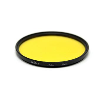 GreenL格林尔 全色滤镜 红橙黄绿蓝紫颜色树脂镜片镜头通用黑白特效摄影佳能尼康索尼 厂家经营包邮 黄色 37mm