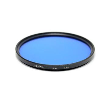 GreenL格林尔 全色滤镜 红橙黄绿蓝紫颜色树脂镜片镜头通用黑白特效摄影佳能尼康索尼 厂家经营包邮 蓝色 82mm