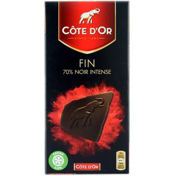 小神价!COTE DOR 克特多 金象70%黑巧克力 100g*6件