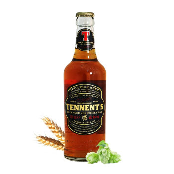 口感润滑:Tennent's 替牌 威士忌橡木桶啤酒 330ml*6瓶 *2件