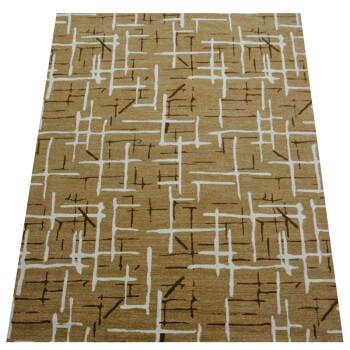 海马地毯 简约欧式 客厅餐厅卧室书房现货地毯A7239H-N3001 褐色 2000MMx3000MM