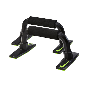 正品新款耐克练臂肌俯卧撑器材支架NIKE室内外健身锻炼工字型俯卧撑架 黑绿NER36023NS