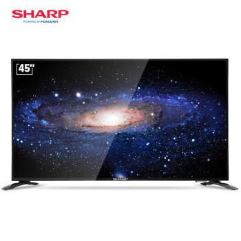 夏普 (SHARP) LCD-45SF460A 45英寸全高清wifi智能网络液晶平板电视机(黑色)