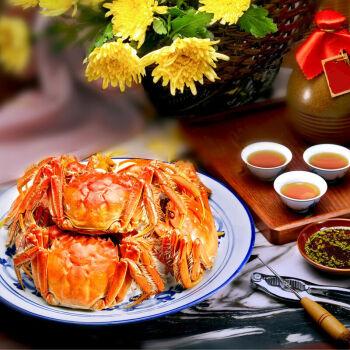 阳澄湖大闸蟹现货 实物礼盒 公蟹3.5两/只 母蟹2.5两/只8只装