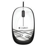 Logitech 罗技 M105 有线鼠标 清新白 19.9元