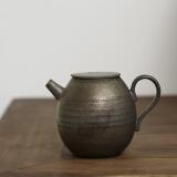 SUYI 素以 式粗陶手拉胚原矿铁釉小茶壶 200ML 118元(包邮、需用券)