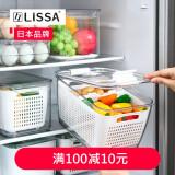日本lissa 冰箱透明18格鸡蛋盒收纳盒 18格 *2件 58.2元(需用券,合29.1元/件)