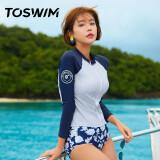 TOSWIM 拓胜 TS81120604003 女款分体泳衣三件套 261.9元