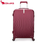 爱华仕(oiwas)新品时尚旅行箱男士登机箱20英寸铝框拉杆箱女士行李箱飞机轮密码箱硬箱6602红色24英寸
