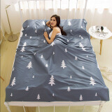 加加林(JAJALIN)旅行酒店隔脏睡袋成人室内出差单人双人便携式薄旅游防脏床单 可可西里120*210cm 49元