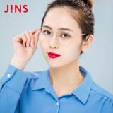 日本睛姿(JINS)防蓝光眼镜男女多边形时尚防护眼镜复古金属框电脑25%功能防辐射眼镜FPC-19A-112-95 浅金色 299元(需买2件,共598元,需用券)