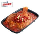 亚洲渔港香辣烤全鱼净重550g加热即食方便菜家庭装鱼类海鲜生鲜*4件