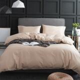 源生活 四件套 60支精梳纯棉素色床品套件 纯色床单被套 卡其色1.8米床(220*240cm) 券后 269元 包邮