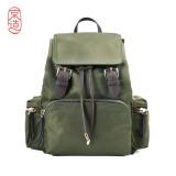 京造 尼龙双肩包女背包时尚拼接 军旅绿 *2件 351元(合175.5元/件)