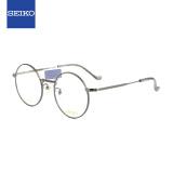 SEIKO精工SEIKO眼镜框男女款全框β-钛复古眼镜架近视配镜光学镜架HC30227449mm深灰色 454元(需用券)