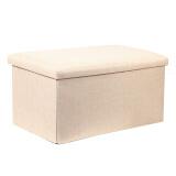 RedCamp 长方形收纳凳子储物凳可坐成人沙发凳换鞋凳折叠收纳椅家用收纳箱 米白110升 *2件 79元(合 39.5元/件)