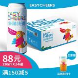 京东PLUS会员:Easycheers 比利时风味 精酿啤酒 330ml*24罐整箱+酒杯1个