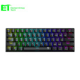 ET I61机械键盘有线/无线蓝牙双模办公游戏61键迷你便携充电小键盘平板笔记本MAC电脑键盘RGB背光黑色黑轴 149元