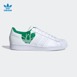 阿迪达斯官网adidas三叶草SUPERSTAR男女经典运动鞋FY2826FY2827白/绿/FY282741(255mm) 313元