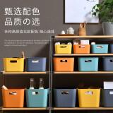 京东PLUS会员:久梨沙 厨房储物盒子 暮色橙 大号 *6件 65.6元(需用券,合10.93元/件)
