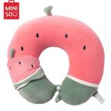 名创优品(MINISO)西瓜U型枕靠垫套装(含眼罩) 柔软弹性便携式可爱汽车飞机旅行枕 办公室午睡枕 *3件 55元(需用券,合18.33元/件)