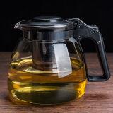 玻璃耐高温泡茶壶单壶大容量茶具花茶壶水壶套装1000ML单只泡茶壶