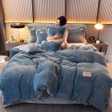 移动专享:制梦家纺 冬季保暖牛奶绒四件套 1.8m 7.5斤