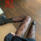 SUQIONG 素琼 黑色月亮花纹美腿袜
