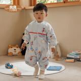 限尺码良良(liangliang)婴儿睡袋宝宝儿童防踢被睡袋秋冬季可拆袖分腿睡袋厚款蓝色80*39cm+凑单品 86.5元