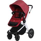 gb好孩子婴儿推车高景观婴儿车可坐可平躺双向推行避震折叠轻便儿童推车红色GB116-R221RR 814元