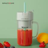 罗娅(ROYALTYLINE)梅森杯便携式榨汁机家用小型无线充电动迷你水果汁料理榨汁杯清新绿 110.08元
