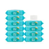 飘漾(PureYoung)婴幼儿柔湿巾泡泡除菌湿纸巾 80片带盖装*10包 *8件 107.2元(合13.4元/件)