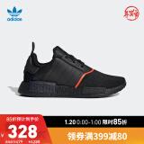 阿迪达斯官网adidas三叶草NMD_R1男女鞋经典运动鞋EE50851号黑色/红荧光42(260mm) 278元