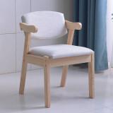 冬巢 实木软包Z字椅子 原木色标准款 128元包邮(需用券)