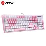 17日0点:MSI 微星 GK50Z 104键 有线机械键盘 高特青轴 169元包邮(需用券)