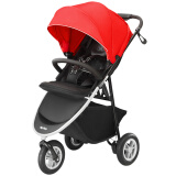 京东PLUS会员:Aprica 阿普丽佳 Smooove 高景观三轮婴儿推车 红色 1389元包邮